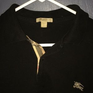 Authentic black Burberry Polo.